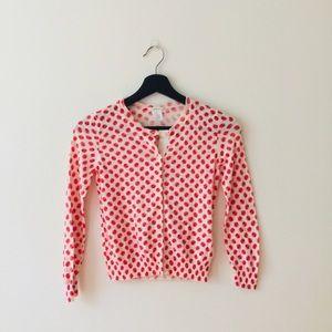 Crewcuts   Red Apple Print Cardigan Sweater